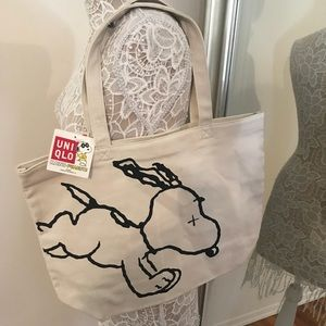 Uniqlo x KAWS tote shoulder bag NWT